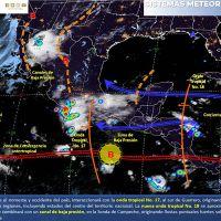 Lluvias de muy fuertes a intensas con descargas eléctricas en el noroeste y occidente de México