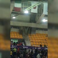 |Video| Lluvia derrumba techo durante mundial de voleibol