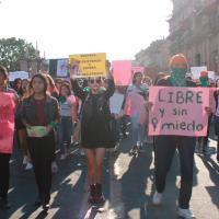 Morelianas feministas se manifiestan en el centro histórico