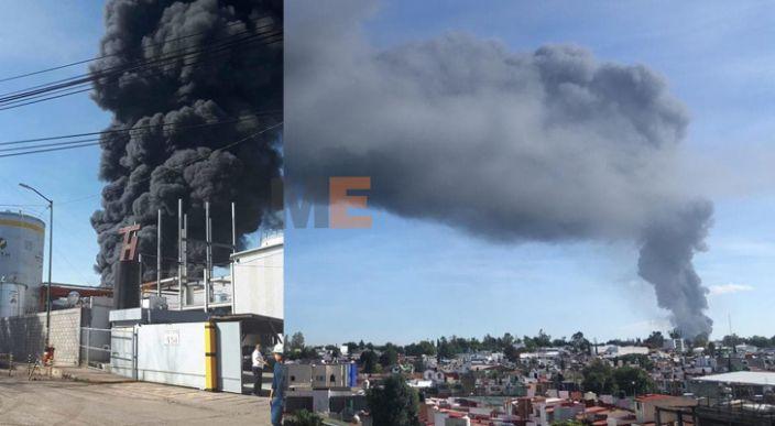 Arde fábrica de plásticos en Cd. Industrial, Morelia