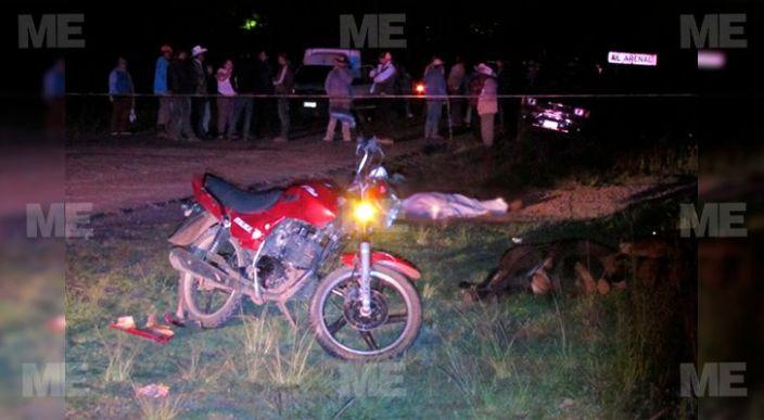 Motociclista perdió la vida al chocar contra caballo en la Morelia-Atécuaro