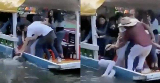 Mujer cayó de una trajinera en Xochimilco y vivió para contarlo (Video)