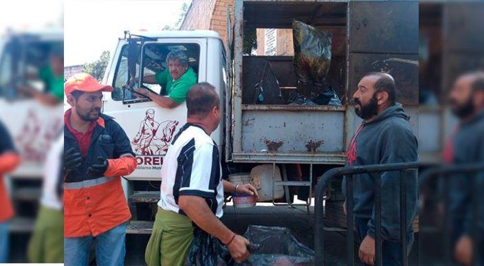 45 toneladas de basura Recolectadas en brigadas de limpieza al término del desfile cívico militar