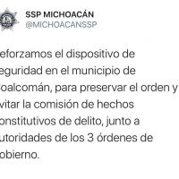 Implementa SSP Michoacán dispositivo de seguridad, en Coalcomán