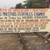Empresarios michoacanos urgen al gobierno de AMLO resolver bloqueo de las vías del tren en Lázaro Cárdenas