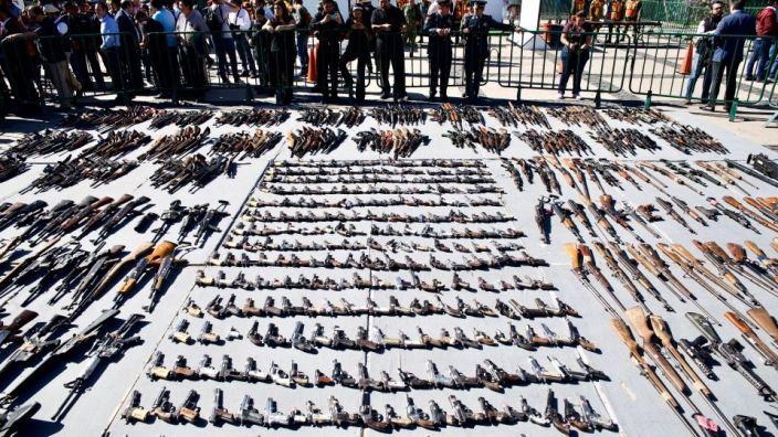 Destruyen más de mil armas del Narco de Culiacán