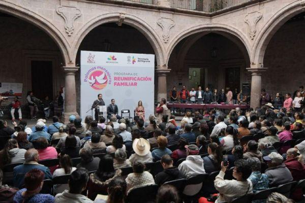 "Gobierno de Morelia se suma a programa de reunificación familiar ""Palomas Mensajeras"""