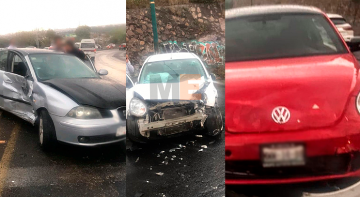 Carambola vehicular frente a Casa de Gobierno deja 3 heridos en Morelia
