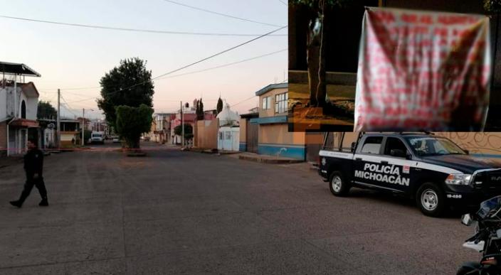 Dejan un cuerpo en pedazos con narcomanta en Uruapan, Michoacán