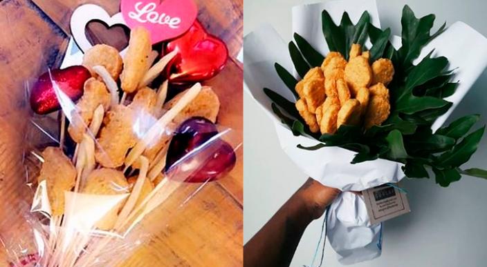 Ramo de nuggets de pollo lo mejor que podrás regalar este 14 de febrero