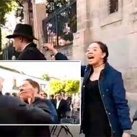 Joven le grita 'Pederasta' a Mireles en el Centro de Morelia y Masón la abofetea (Video)