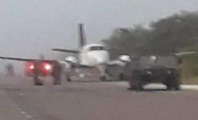Avioneta aterriza y se enfrenta al Ejército y Guardia Nacional, en Quintana Roo (Video)