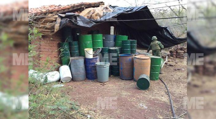 Militares localizaron y aseguraron un narcolaboratorio en la región de Turicato