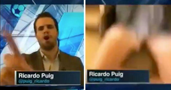Ricardo Puig sufre penoso accidente trabajando desde casa (video)