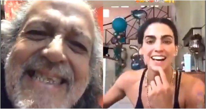 'El Mastuerzo' graba divertido TikTok de la clase fitness de Bárbara de Regil (Video)