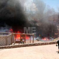 Se incendiaron varias casas en un asentamiento irregular al oriente de Morelia