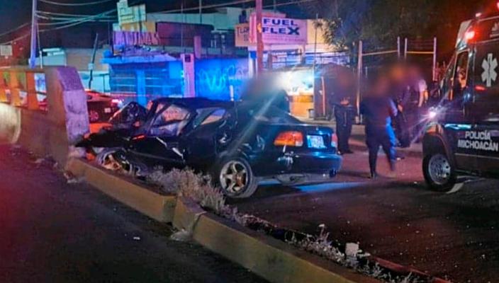 Pierde la vida policía al accidentarse sobre la Av. Madero Poniente en Morelia, Michoacán