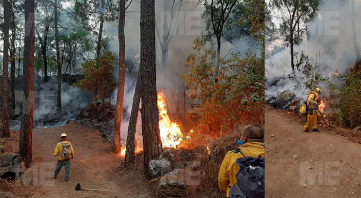 Incendio en reserva ecológica de Uruapan continúa sin control