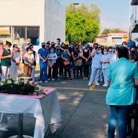 Honra IMSS con homenaje doctora que perdió la batalla contra el Covid-19 en Uruapan