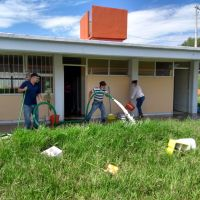 Limpian planteles escolares afectados por lluvia en Morelia, Michoacán