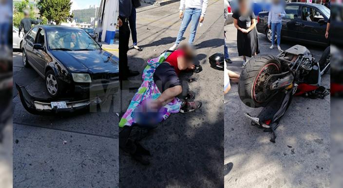 Motociclista queda herido luego de accidentarse sobre la Av. Lázaro Cárdenas de Morelia