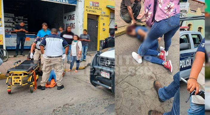 Mujer sufrió una crisis nerviosa luego de ser asaltada, en Zamora