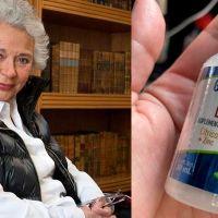 Senador muestra las gotas que usa la Secretaria de Gobernación para no enfermar de Covid-19