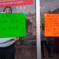 Magisterio Michoacano del Poder de Base toma sedes bancarias