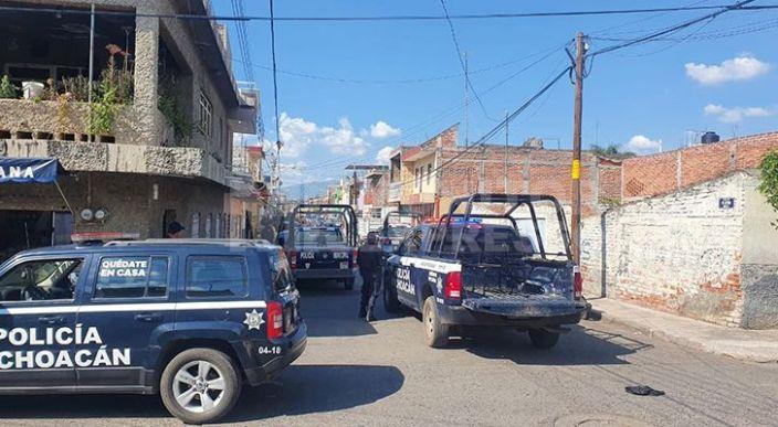 Agreden a tiros a un hombre en la Generalísimo Morelos de Zamora