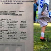 Liga infantil de futbol en La Piedad, Michoacán reanuda partidos pese a pandemia