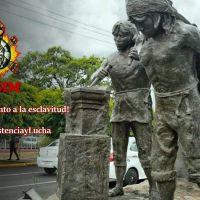 Purhépechas emplazan al Ayuntamiento de Morelia a retirar monumento a la esclavitud
