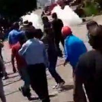 Operativo policíaco sorprende de nuevo a normalistas en vías férreas de Pátzcuaro (video)