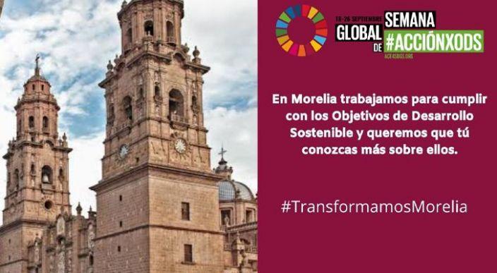 Morelia participará en la Semana Global de Acción por ODS