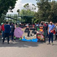 A 6 años de la desaparición de los 43 de Ayotzinapa, normalistas marchan en Morelia