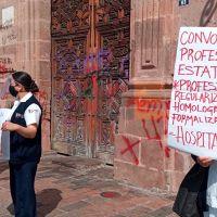 Enfermeras exigen a Finanzas del Estado liberar su recurso para su profesionalización