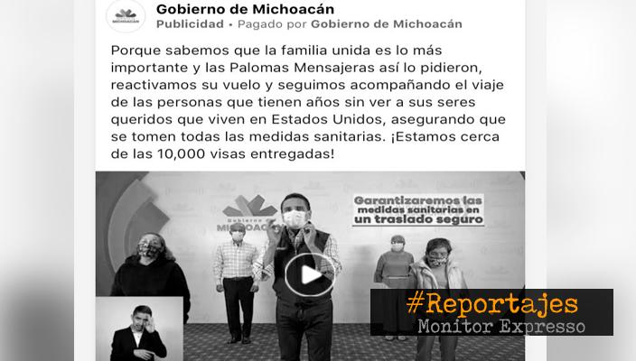 Gobierno de Michoacán gasta en dos meses más de 2 mdp en publicidad de Facebook