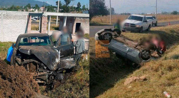 Chocan 2 vehículos en la Morelia-Pátzcuaro; hay un herido