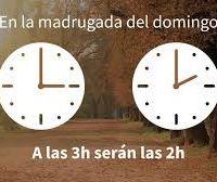 Este domingo, no olvides atrasar tu reloj