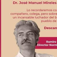 Muere el doctor Mireles Valverde víctima de covid-19