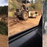 Denuncia Movimiento de la Loma construcción ilegal de fraccionamiento en faldas de Pico Azul de Morelia