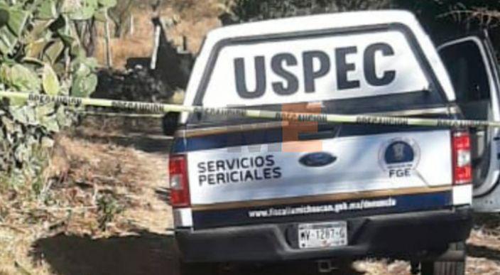 Encuentran a un ejecutado en brecha de terracería de Tarímbaro, Michoacán