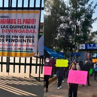 Por falta de pagos, trabajadores de Tecnológicos Descentralizados del Estado de Michoacán en paro de labores