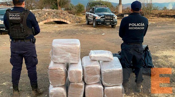 Asegura SSP a uno en posesión de 118 kilos de marihuana