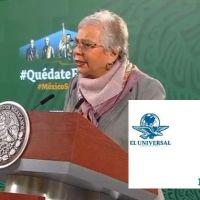 Olga Sánchez llama a El Universal y Reforma los medios más importantes contrario a AMLO (Video)
