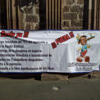 Profesores de la Universidad Michoacana piden la salida del presidente de la JLCA