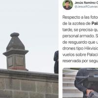Presuntos francotiradores resguardaron Palacio Nacional durante protestas, vocero dice son inhibidores de drones