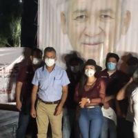 Junto a Estefanía Mireles, Sergio Báez arranca campaña por Buenavista