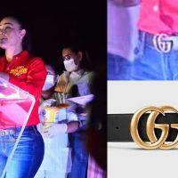 Diputada Miriam Tinoco con cinturón Gucci de más de 8 mil pesos
