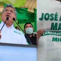 Imprimen 100 mil bolsas con el nombre equivocado del candidato del PVEM en Michoacán (video)