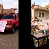 Con caravana CJNG entrega regalos a madres (video)